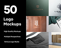 50 Logo Mockups Branding Bundle - PSD