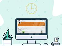 IMac Desk illustration design