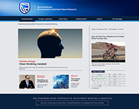 Bespoke website + magazine for corporate investors