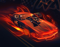 Race Hard - Illustration