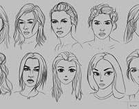 Drawing 10 Portraits using 10 Different Methods