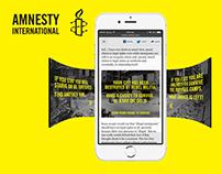 Amnesty International 'Syria' 360 Banner & Infographic