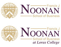 Noonan School of Business logo variation process