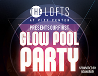 Glow Pool Party Flyer