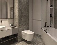 WC for minimalist apartment in Park Avenue