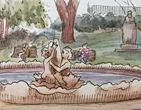 #Inktober 4 - park watercolor