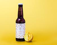 HonestBrew x Wiper & True \ Lemon Sorbet Pale Ale Label