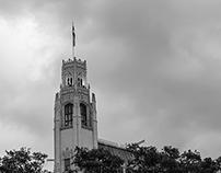 Old Building and Flag, San Antonio, TX, 2015