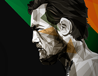 UFC194 Aldo vs McGregor illustrations for BT Sport