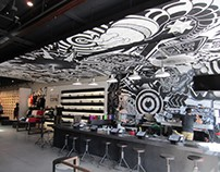 Converse Mural with En Masse - Santa Monica, CA