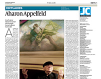 The Jewish Chronicle various newspaper pages