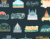 Cities Sticker Pack for Snapchat