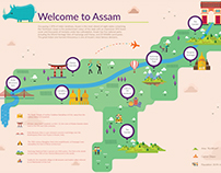 Infographics on Assam Tourism