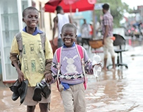 Takoradi kids on a rainy day.