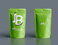 Free Photoshop Mockup - Food Pouch II