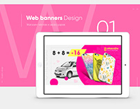 Web banners design for March 8