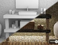 3D Bathroom- Night