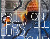 Britton Powell '20 Euro Tour Poster
