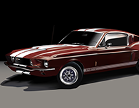Mustang GT350 -1965 Racer - AI Render