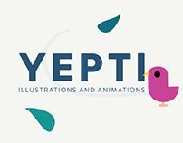 Yepti app animations