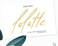 Lolotte Multilingual Font