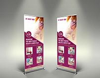 Pregnancy Signage Rollup Banner Template