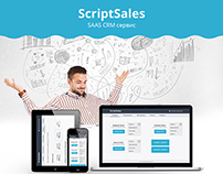 "Web design for SAAS CRM service ""ScriptSales"""