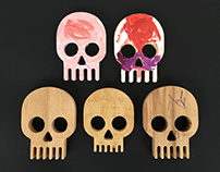 Yorick Wooden Skull Charger Cable Holder Concept