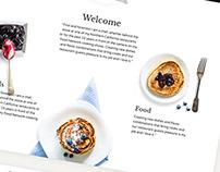 Restaurant Cafe, Cake Shop website design