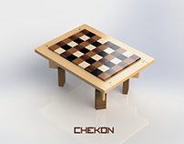CHEKON: CHECKERED CENTER TABLE (SUSTAINABLE DESIGN)