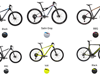 Icons for bike store