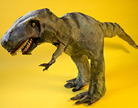 Masking Tape Sculpture (T-Rex Clone)