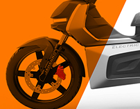 E-RUN electric motorcycle prototype