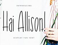 Hai Allison Display Font