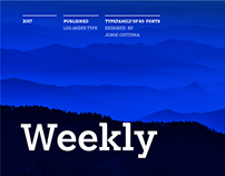 Weekly font