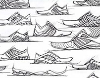 Adidas Tennis Shoe Sketches