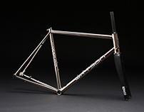 Wittson custom titanium road disc mirror polished frame