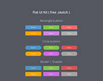 Free Flat UI Kit (.sketch)