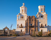 Sunset at Mission San Xavier del Bac, Tucson, AZ