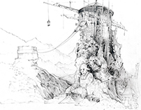 Architecture - pencil drawings