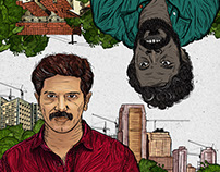 Illustration posters for Kammatipadam