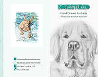 Hand Drawn Animal Portraits - Pamphlet