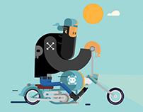 Biker - Loop GIF