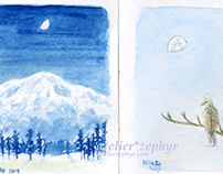 Small size,moon drawing 2