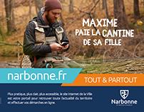 MAIRIE DE NARBONNE : Lancement site Internet