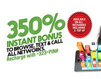 Globacom 350% Bonus Campaign