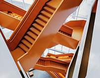 Grand Orange Staircase Series