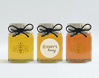 Henry's Honey Logo + Packaging
