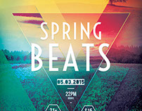 Spring Beats Flyer