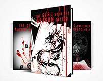 Stieg Larsson's Trilogy Book Cover Design